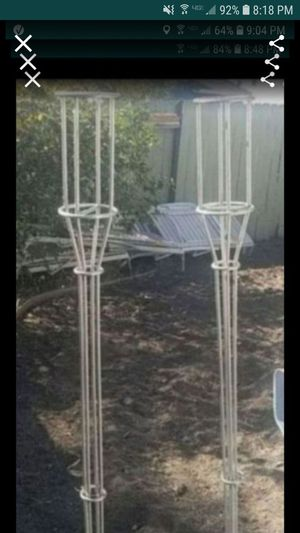 2 stainless steel tiki torch holders great for beach pool patio for Sale in Tracy, CA