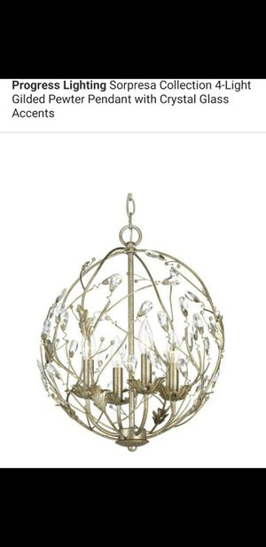 4 light chandelier with glass accents for Sale in Bakersfield, CA