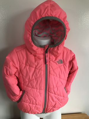 The North reversible Girl jacket Size S/P for 7/8 years old for Sale in Stockton, CA