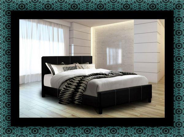 Twin platform bed with mattress