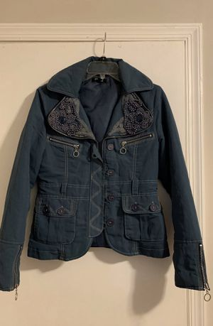 Blue/navy waterproof material jacket for Sale in Silver Spring, MD