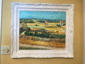 Large Vincent Gogh oil painting in solid wood frame for Sale in Tempe, AZ