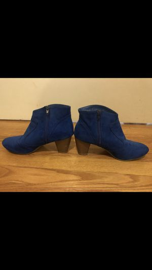 Blue Chinese laundry boots size 8 for Sale in Boston, MA