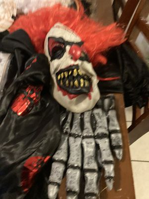 Killer clown adult male costume $15 firm for Sale in Olympia, WA