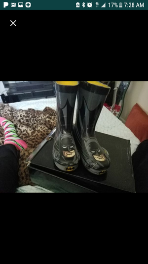 batman rain boots with umbrella (not shown) but match the boots for Sale in Hyattsville, MD