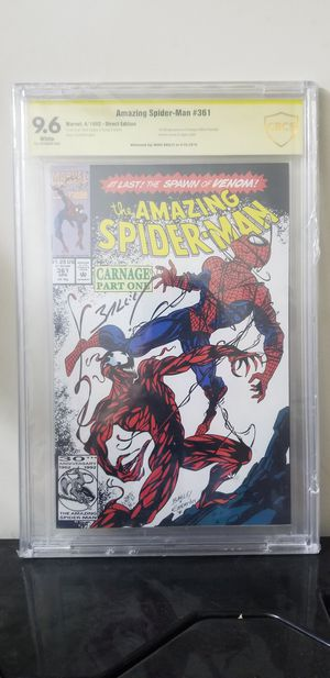 Spiderman 361 cbcs 9.6 signed 1st carnage for Sale in Jacksonville, NC