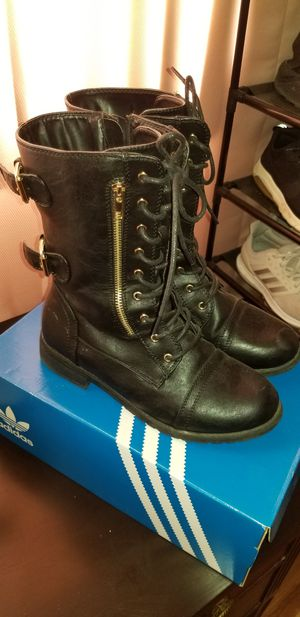 Black combat boots for Sale in Bakersfield, CA
