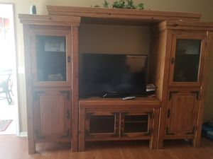 Barn yard style solid wood entertainment center for Sale in Murfreesboro, TN