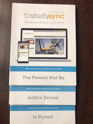 3 StudySync Reading Writing English homeschooling middle school curriculum textbook workbook for Sale in Upland, CA