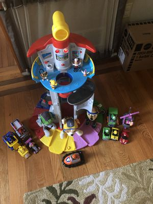 Paw Patrol lookout tower slightly used! Missing jet packs for Sale in Plum, PA