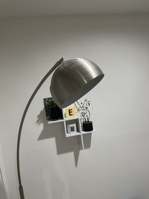 Marble and stainless steel floor lamp for Sale in New York, NY