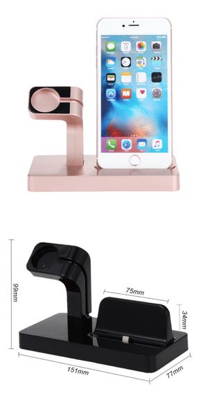 New iPhone iWatch 2 in 1 Charging Station Rose Gold Stand Charger for Phones Apple iPhone Accessories for Bedroom Office Living Room Desktop for Sale in El Monte, CA