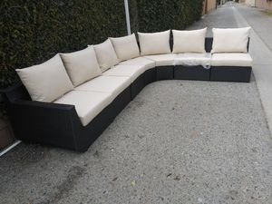 Outdoor patio wicker couch for Sale in Los Angeles, CA