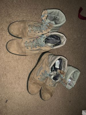 Two pairs of military work boots for Sale in Rocklin, CA
