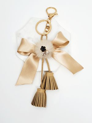 Tassel and bow keychain bag charm for Sale in Baldwin Park, CA
