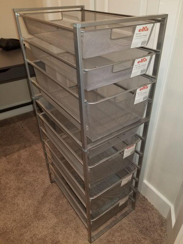Metal mesh drawers
