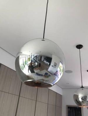 Glass chrome pendent lighting chandelier fixture new in box super nice and slick new in box selling all 3 for $220 don't miss out for Sale in West Hollywood, CA
