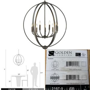 Golden Lighting Colson 9 Light Chandelier In Etruscan Bronze - 3167-9 EB for Sale in Miami, FL