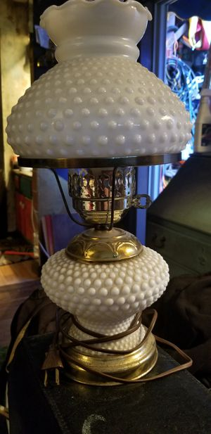 Antique milk glass table lamp for Sale in Austin, TX