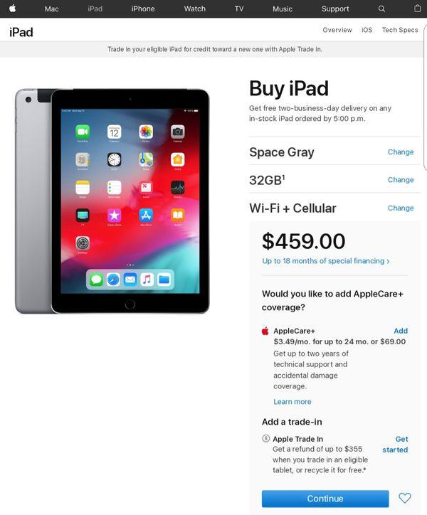 iPad 6th Gen 9.7' Verizon (iCloud Locked)