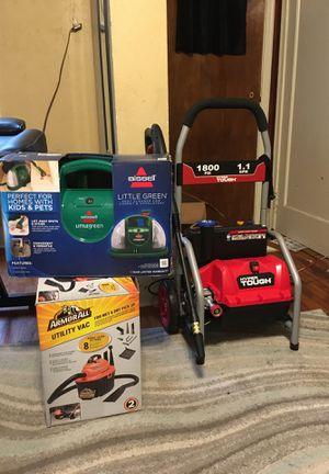Vacuum , carpet cleaner , pressure washer for Sale in Evansville, IN