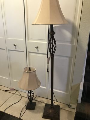 Matching floor and table lamps for Sale in Fort Lauderdale, FL