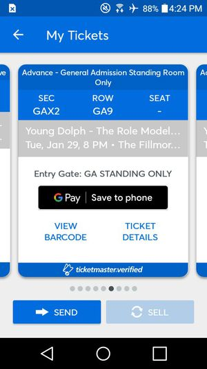 Young dolph concert tickets for Sale in Baltimore, MD