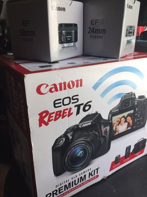 Canon T6 w/4 lenses ***Deal!!! PRICE FIRM NO OBO!!! No trades for Sale in North Highlands, CA