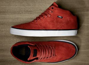 Men's Vans OTW Piercy Mid Hi-Top retail $108 size 9.5 Like new! Great condition Skateboard Shoes Suede color Red for Sale in Washington, DC