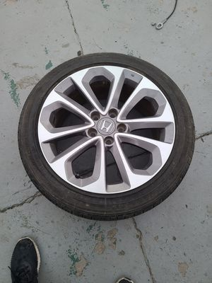 2013 and 2015 honda accord sport rim and tire for Sale in Los Angeles, CA