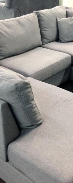 Grey Sectional (2-seat sofa, chaise lounge, and cocktail ottoman) for Sale in Phoenix, AZ