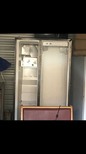 Stainless steel 2 door fridge and freezer; doors are off for easier carrying; best offer delivery available for Sale in Providence, RI