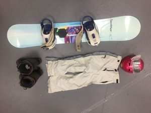 Morrow snowboard and da kine bag and boots size 8 women's for Sale in Carlsbad, CA