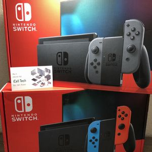 New Sealed Nintendo Switch V2 Longer Battery Life Neon Color Left with original Receipt for Sale in Fresno, CA