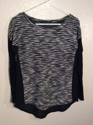 Brand New Black White Women's SANCTUARY Long Sleeve Sweater Tunic in package - Size M-L for Sale in Austin, TX