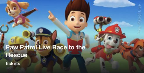 Paw patrol live tickets. for Sale in Waco,  TX