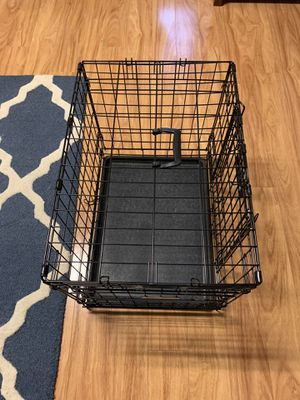 Small dog crate plus comfy bed and feeders for Sale in Pinecrest, FL