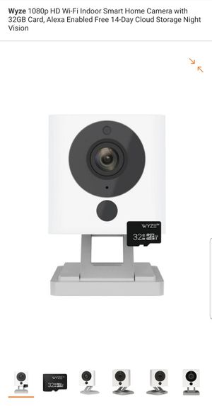 Wyze wireless indoor camera with 32gb micro sim card for Sale in Tampa, FL