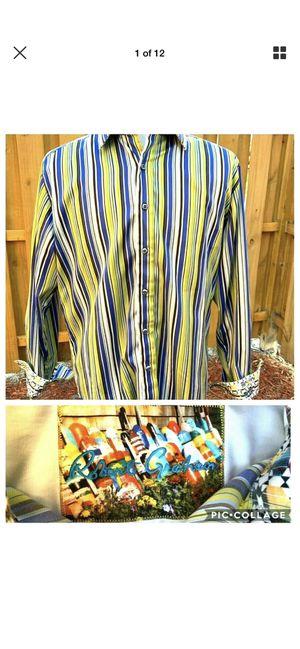 Robert Graham Men's Large Dress Shirt Long Sleeve Button Down Flashy Stripe for Sale in Fort Myers, FL