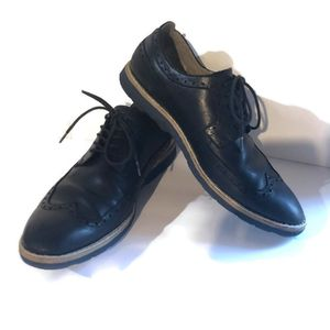 Clarks Men's Lightweight Casual Oxford Black Leather Lace Up Sz 9 TOR #26107141 for Sale in St. Petersburg, FL