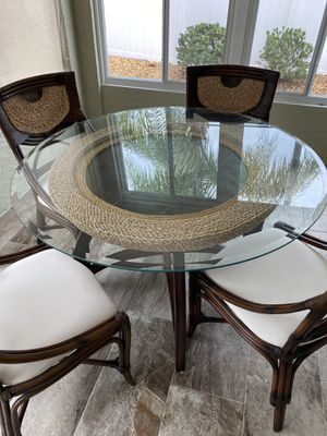 Glass top table for Sale in The Villages, FL