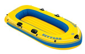 Sevylor Caravelle K105 inflatable boat w/ 2 paddles and life vests for Sale in Los Angeles, CA