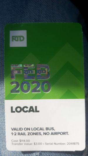 RTD PASS for Sale in Denver, CO