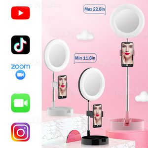 Makeup Vanity Mirror Halo Ring Light for Zoom Online Meeting Table Lamp Phone Holder for Sale in Brooklyn, NY