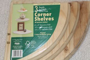 Set of 3 floating shelves , round with wall mount kit for Sale in Flowery Branch, GA