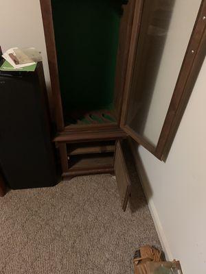 4 gun wood cabinet hand made with locked door for Sale in Stuarts Draft, VA