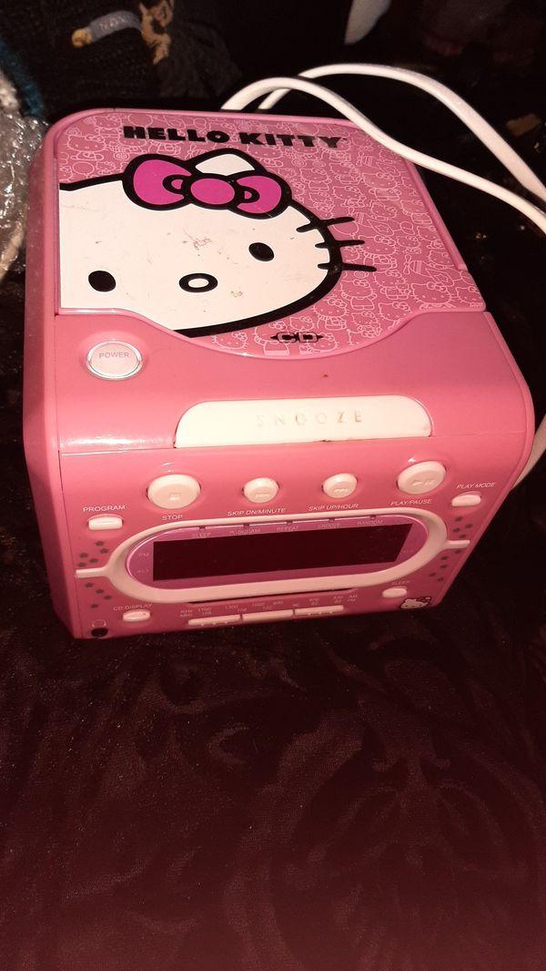 Hello kitty cd and am/fm radio alarm clock