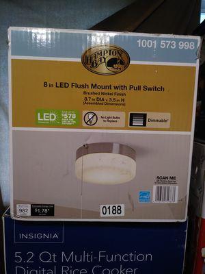 "Hampton Bay 8"" LED Flush Mount w Pull Switch for Sale in Merced, CA"