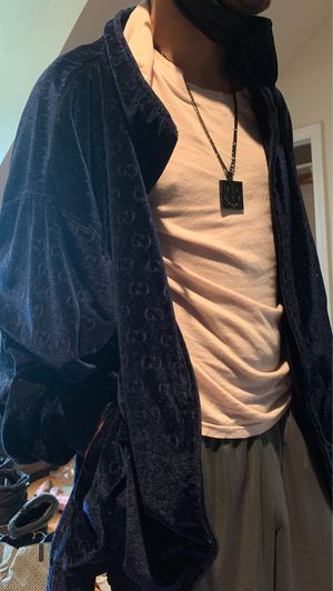 Gucci Navy Blue Velvet Jacket for Sale in Racine, WI