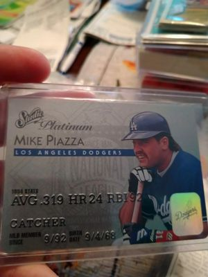 Los Angeles Dodgers mike piazza 1995 Leaf Studio Platinum Series Baseball Card for Sale in Port Richey, FL